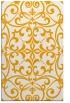 rug #950429    light-orange damask rug