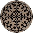 rug #950457 | round black damask rug