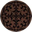 rug #950461 | round black damask rug