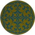 rug #950525 | round green damask rug
