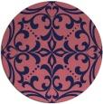 rug #950541   round pink damask rug