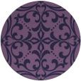 rug #950545 | round purple damask rug