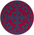 rug #950569 | round blue-green damask rug