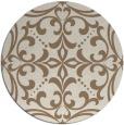 rug #950597 | round mid-brown damask rug
