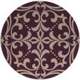 rug #950605 | round pink damask rug