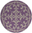 rug #950629   round beige damask rug
