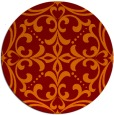 rug #950645 | round orange damask rug