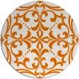 rug #950649   round orange damask rug