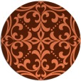rug #950657 | round red-orange damask rug