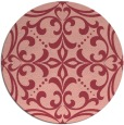 rug #950669 | round pink rug