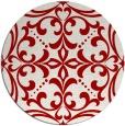 rug #950693 | round red damask rug