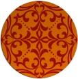 rug #950697 | round red damask rug