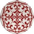 rug #950701   round red damask rug