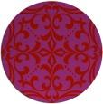 rug #950705 | round pink damask rug