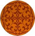 rug #950709 | round red-orange damask rug
