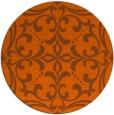 rug #950717 | round red-orange rug