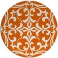 rug #950721   round red-orange damask rug