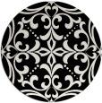 rug #950725   round black damask rug