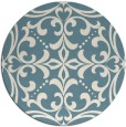rug #950741 | round white rug