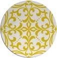 rug #950761 | round yellow damask rug