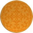 rug #950797 | round light-orange damask rug