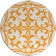 rug #950801 | round light-orange damask rug