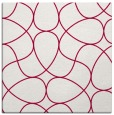 rug #953085 | square red retro rug