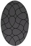 rug #953333 | oval black stripes rug