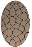 rug #953337 | oval black graphic rug