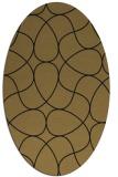 rug #953353 | oval mid-brown rug