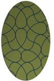 rug #953369 | oval blue abstract rug
