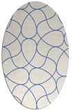 rug #953373 | oval blue graphic rug