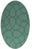 rug #953381   oval blue-green abstract rug