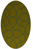 rug #953405 | oval blue-green abstract rug