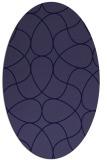 rug #953413 | oval blue-violet stripes rug