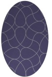 rug #953417 | oval blue-violet stripes rug