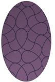rug #953425 | oval blue-violet stripes rug