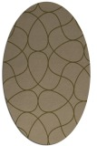 rug #953441 | oval brown retro rug