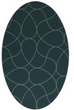 rug #953457   oval green graphic rug