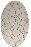 rug #953477 | oval mid-brown stripes rug
