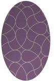 rug #953509 | oval purple abstract rug