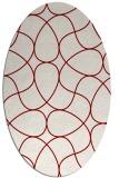 rug #953531 | oval abstract rug
