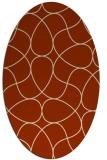 rug #953536   oval stripes rug