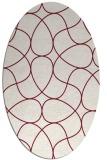 rug #953545 | oval pink popular rug