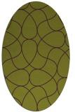 rug #953561 | oval green abstract rug