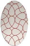 rug #953581 | oval red abstract rug