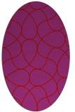 rug #953585 | oval red stripes rug