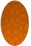 rug #953591 | oval retro rug