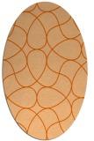rug #953593 | oval red-orange retro rug