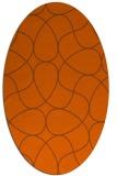 rug #953597 | oval red-orange rug
